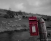 At Yockenthwaite. An experiment to force the red out of this monochrome image, though I think I prefer the full colour version.