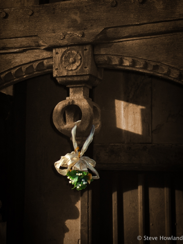 Detail from doorway at the old Lord Leycester Hospital, Warwick