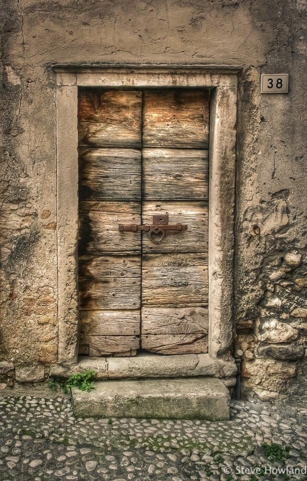 Door in Malcesine, Lago di Garda, Italy