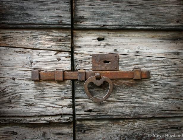 Detail of door in Malcesine, Lago di Garda, Italy