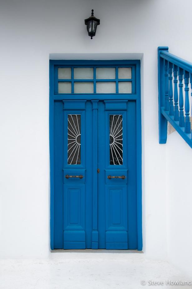 A doorway in Mykonos