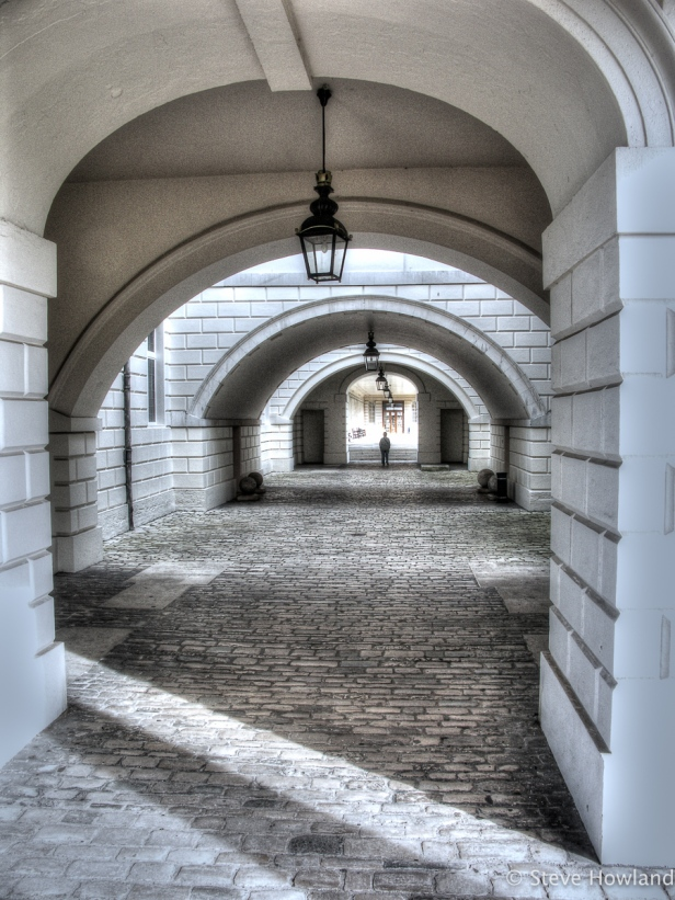 Through the arches at The Queen's House, Greenwich