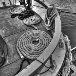 Barge detail in the Marina
